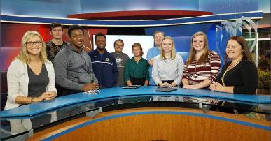 Broadcasting students visit WPSD | JMC Journal